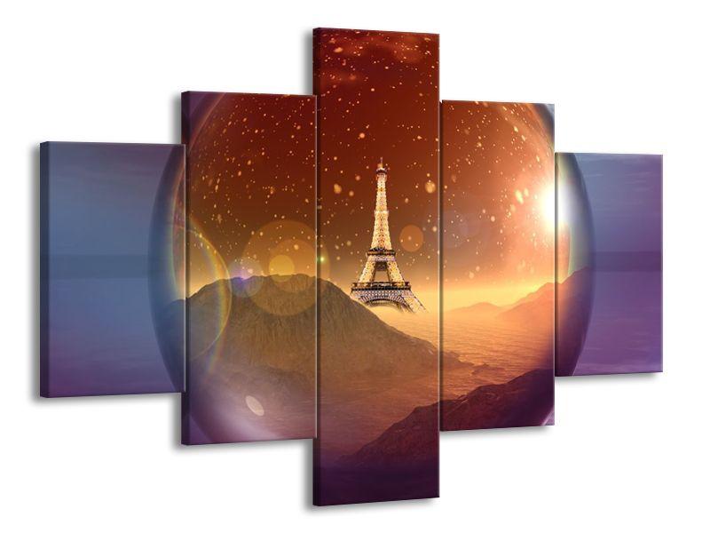 Vícedílný obraz Zasněžená Paříž 100x70 cm