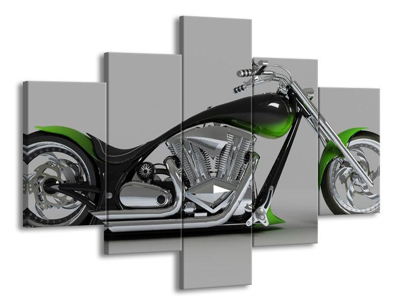 Zelená motorka