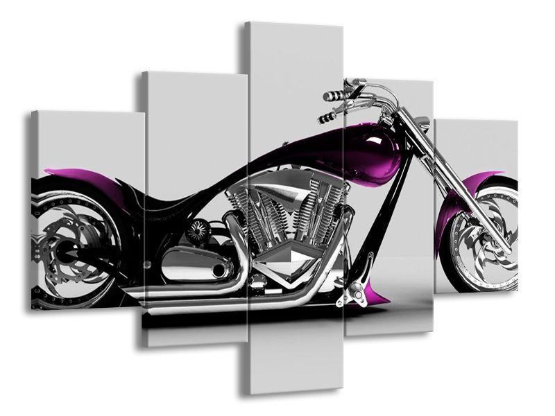 Motorka fialová 2
