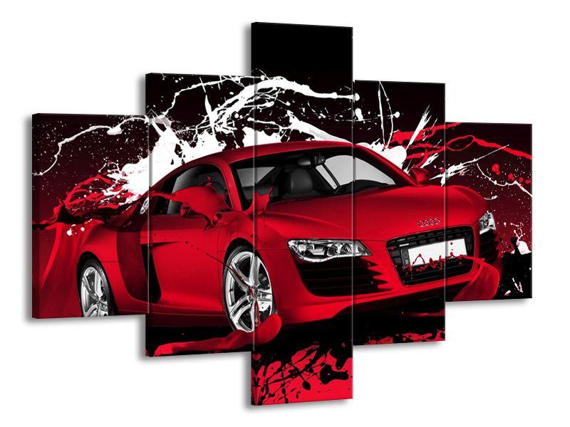 Červené Audi