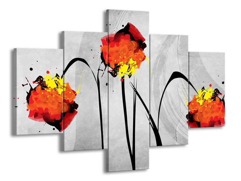 Vicedilny Obraz Na Stenu Kreslene Kvetiny