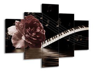 Květina a noty