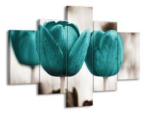Tyrkysová nálada tulipánů