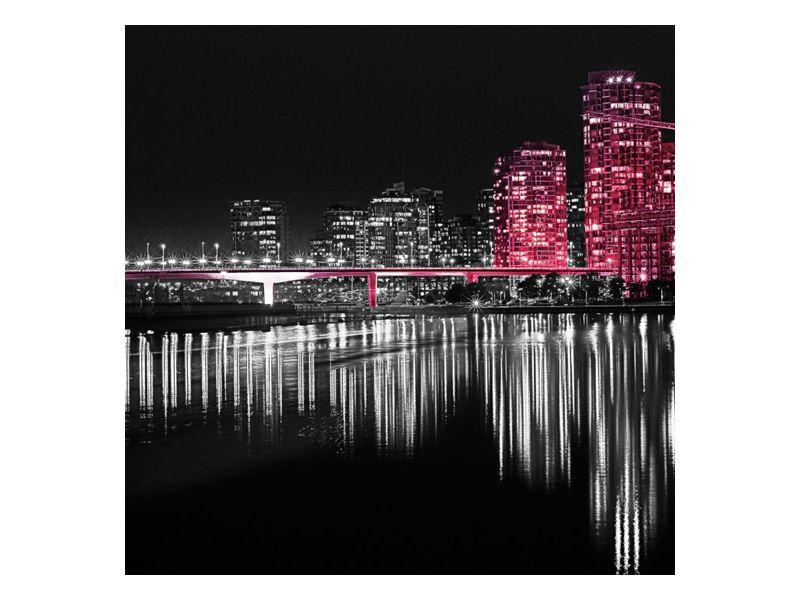 Světla noci v řece velkoměsta