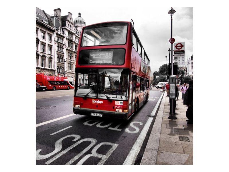 Červený autobus v Londýně