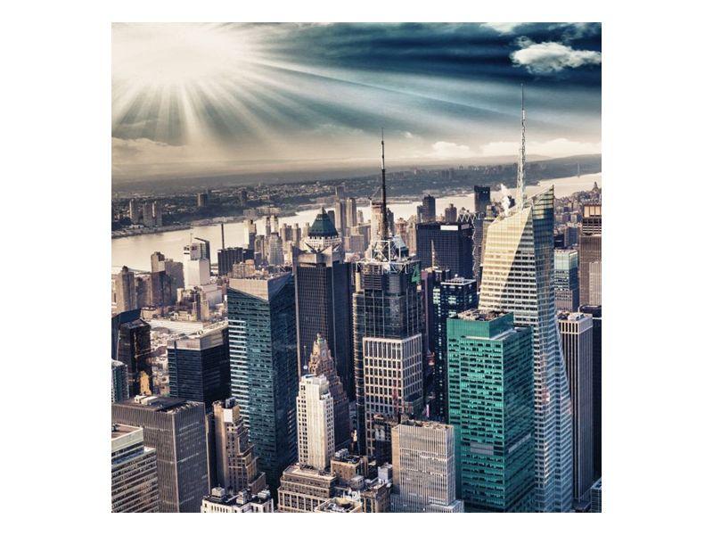 Kovový svit slunce na Manhattan