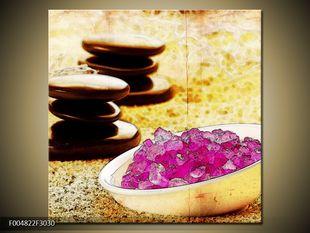 Kamínky a růžové krystalky