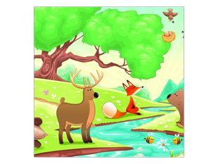 Hravá lesní zvířátka