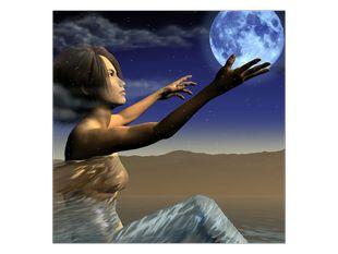 Žena a měsíc