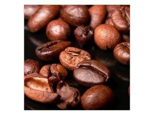 Kávová zrna z blízka