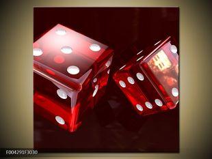 Červené herní kostky
