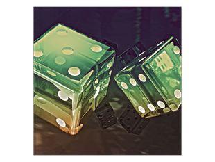 Zelené hrací kostky