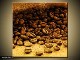 Rozsypaný pytlík kávy