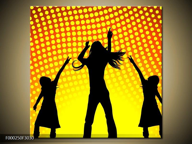 Tančící siluety na párty