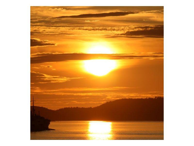 Západ slunce v mracích
