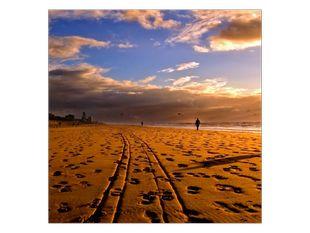 Čerstvé stopy v písku