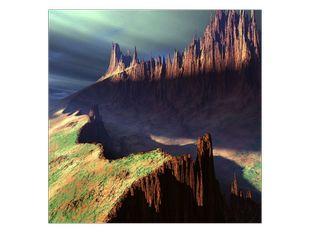 Kráter v horách