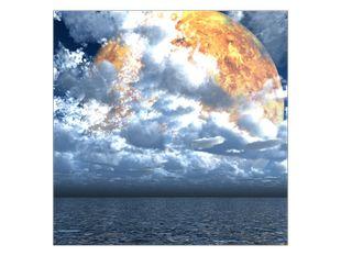 Měsíc za mraky