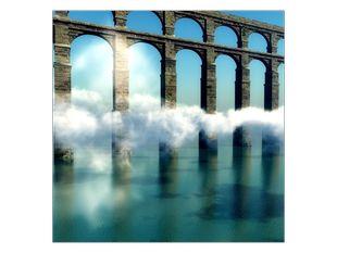 Most v mlze