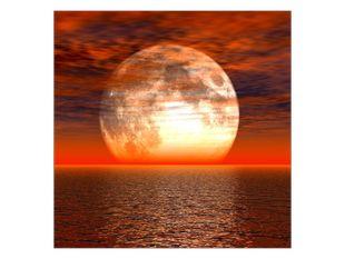 Měsíc pod mraky