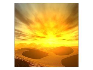 Západ slunce na poušti