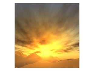 Slunce na kopečky hor