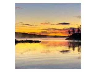 Vodní opar na jezeře