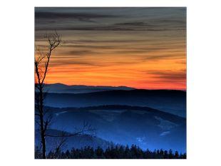 Soumrak na horách