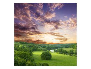 Západ slunce v nížině