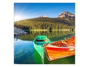 Lodičky na jezeře
