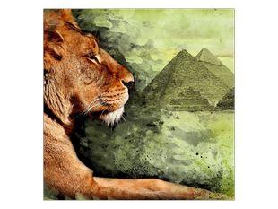 Ležící lev a pyramidy