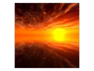 Západ slunce v odrazu