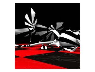 Černobílá růže
