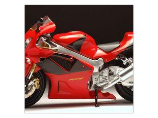 Červená motorka