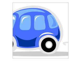 Auto modré kreslené
