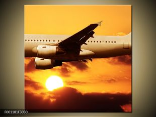 Letadlo a západ slunce