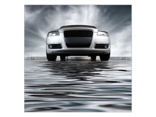 Auto na vodě