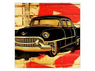 Černé auto kreslené