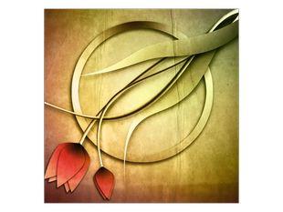 Červené tulipány kruh
