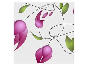 Malované květiny