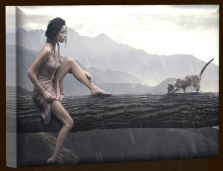 Dívka v dešti