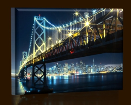LED obraz San Francisco 45x30 cm