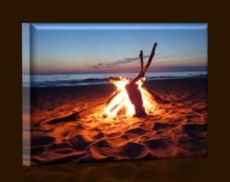 Oheň na pláži