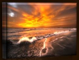 Vlny při západu slunce