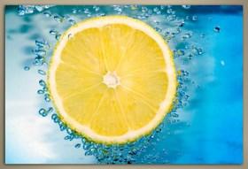 Plátek citronu ve vode