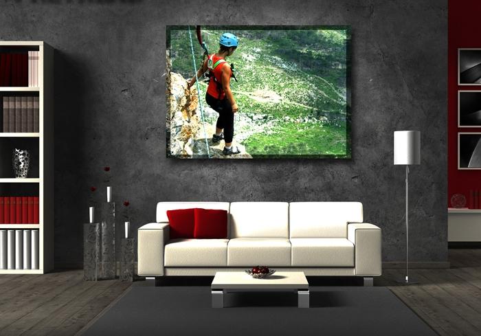 Na LED obraz lze umístit i svojí fotografii z dovolené