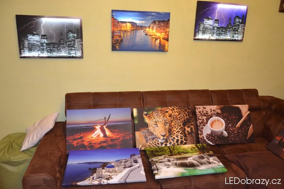 Naše motivy LED obrazů v interiéru