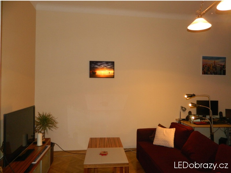 LED obraz západ slunce v interiéru