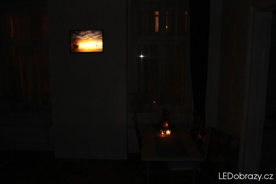 LED obray v interiéru
